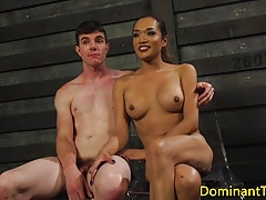 Huge-chested latina sadism & masochism transsexual rimmed by tiedup