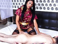 LETSDOEIT - Warm Transgender princess Gives  Rubdown & Loves Anal invasion