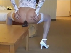 Horny CD likes hook-up playthings - crossdresser