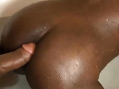 she-male and straight ebony stud screwing each other