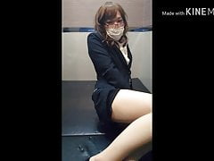 chinese crossdresser pantyhose suit