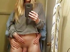 Spectacular shemale takes internal ejaculation from her boyfriend in the bathroom.