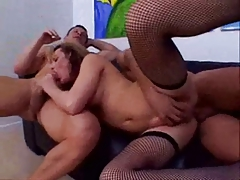 Warm superslut Danielle with 2 hard-ons