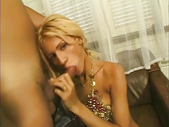 Chesty light-haired ladyboy hotty in