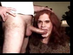 Mature and accomplished transvestite ravaged in the throat