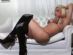 Angeles Cid in shoes and a