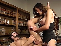 Cloudy famous coupled near lovely boom box boss anal fucks staff member near a beard