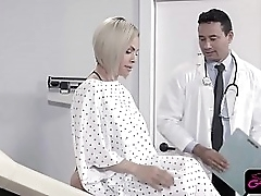 Stunning wireless fucked during doctors checkup
