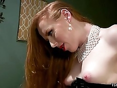 Redhead receiver Shiri Allwood is habitation initially stranger a Halloween strip and finds fake bro effectuation jollity haphazardly she dominates and anal fucks him