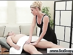 Pretty good milf blowjob chunky load of shit afetr kneading