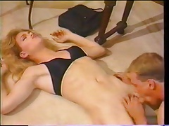 Antique tranny blowing and gets boned
