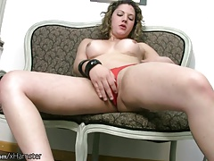 Tgirl in   unsheathes thick globes and she-creature pink cigar