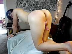 Gorgeous femboy web cam at home