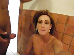 Brazilian Tgirl Bj's Jizz-shotgun and Takes