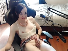Lovely Harmless TGirl Masturbating on Cam